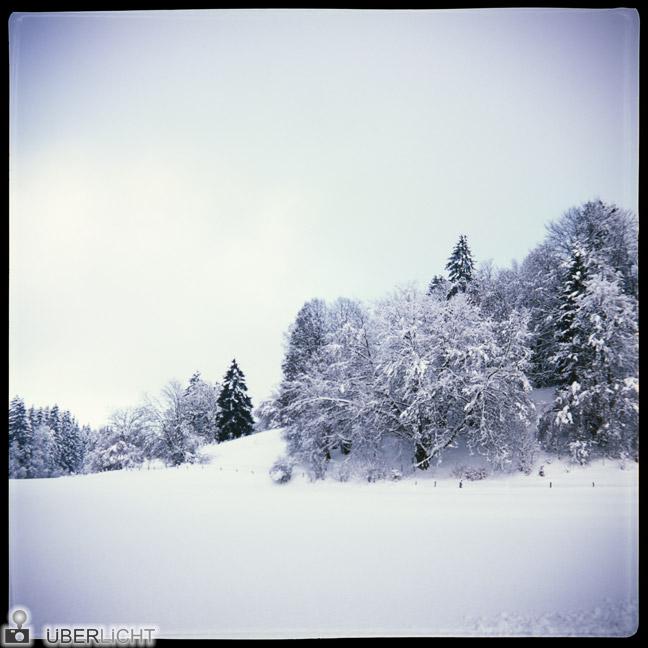 Winterlandschaft Bayern Agfa Click II